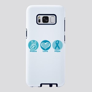 Peace Love Teal Hope Samsung Galaxy S8 Case
