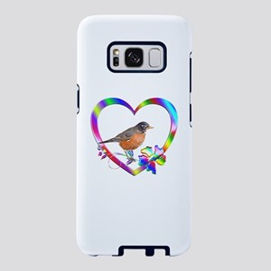 Robin In Colorful Heart Samsung Galaxy S8 Case