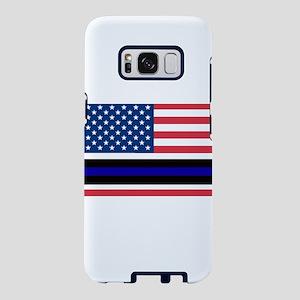 Police Blue Line Samsung Galaxy S8 Case