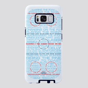 Hockey Rink Typography Desi Samsung Galaxy S8 Case