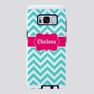 Teal Pink Chevron Personali Samsung Galaxy S8 Case