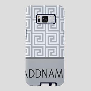 Gray and White Greek Key Mo Samsung Galaxy S8 Case