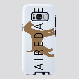 airedale dog text nb Samsung Galaxy S8 Case