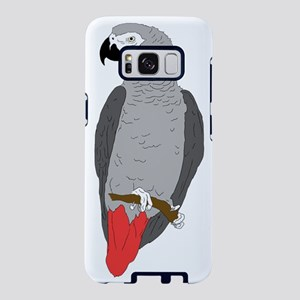 African Grey Parrot on Perc Samsung Galaxy S8 Case