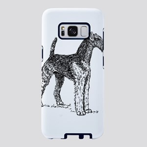 airedale terrier drawing Samsung Galaxy S8 Case