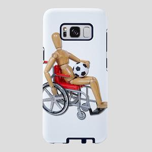 HoldingSoccerBallWheelchair Samsung Galaxy S8 Case