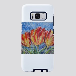 Colorful tulips, flower art Samsung Galaxy S8 Case