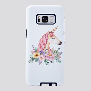 Pink Unicorn with Colorful Samsung Galaxy S8 Case