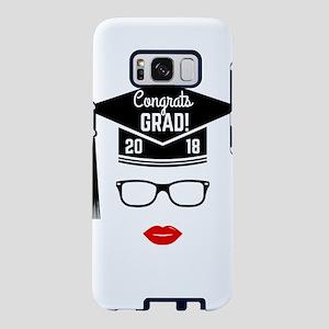 congrats grad 2018 girl Samsung Galaxy S8 Case