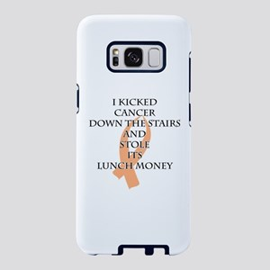 Cancer Bully (Peach Ribbon) Samsung Galaxy S8 Case