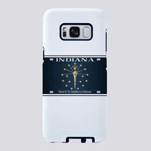 Indiana Flag License Plate Samsung Galaxy S8 Case