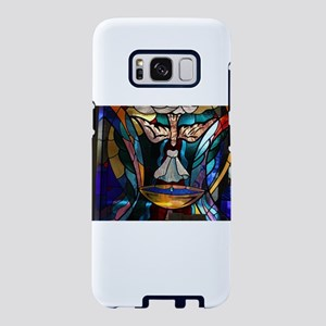 stained glass window blue Samsung Galaxy S8 Case