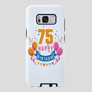 75th Birthday Balloon Banne Samsung Galaxy S8 Case
