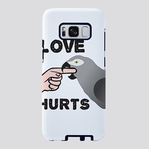 Love Hurts African Grey Par Samsung Galaxy S8 Case