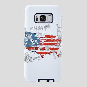 USA Cartoon Places Samsung Galaxy S8 Case