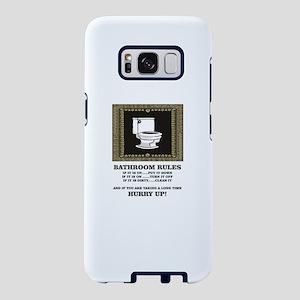 dark back bathroom rules Samsung Galaxy S8 Case