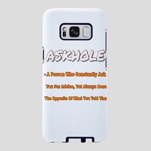 ASKHOLE ORANGE  Samsung Galaxy S8 Case