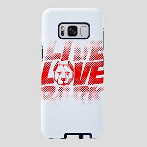 Pitbull Shirt Live Love Bar Samsung Galaxy S8 Case