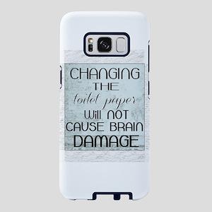 toilet paper humor Samsung Galaxy S8 Case