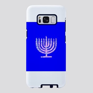 Blue Chanukah Menorah Glowi Samsung Galaxy S8 Case