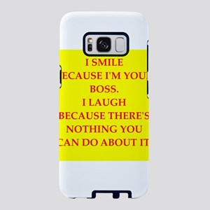 boss joke Samsung Galaxy S8 Case