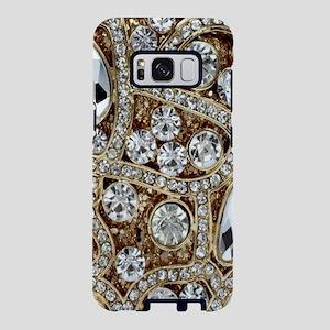 girly bohemian gold rhinest Samsung Galaxy S8 Case