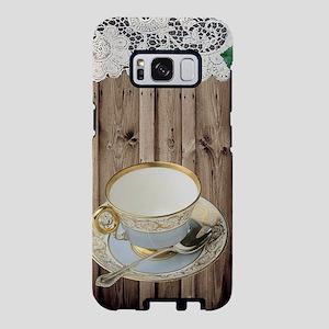 floral tea cup vintage Samsung Galaxy S8 Case