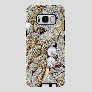 floral champagne gold rhine Samsung Galaxy S8 Case