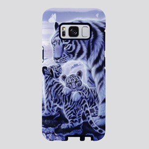 White Tigress And Her Cubs Samsung Galaxy S8 Case