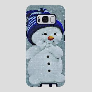Cute Snowman on Light Blue Samsung Galaxy S8 Case