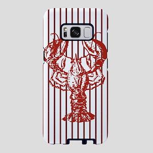nautical red white stripes Samsung Galaxy S8 Case