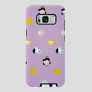 Peanuts Gang Emoji Purple Samsung Galaxy S8 Case