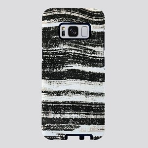 abstract lines black brushs Samsung Galaxy S8 Case