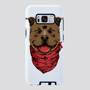 Pit Bull With Scarf Samsung Galaxy S8 Case