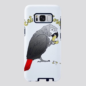 African Grey Parrot Eating Samsung Galaxy S8 Case
