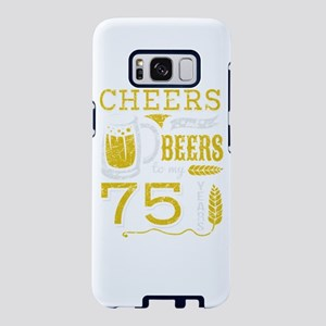 Cheers and Beers 75th Birth Samsung Galaxy S8 Case