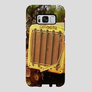 vintage yellow tractor,gril Samsung Galaxy S8 Case