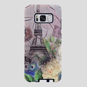 peacock paris eiffel tower Samsung Galaxy S8 Case