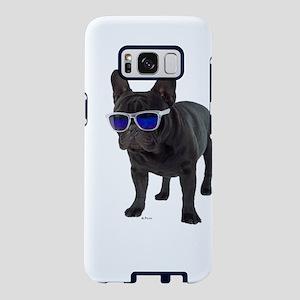 French Bulldog with sun gla Samsung Galaxy S8 Case