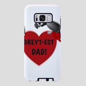 Greyt-est Dad! - African Gr Samsung Galaxy S8 Case