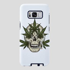 marijuana skull Samsung Galaxy S8 Case