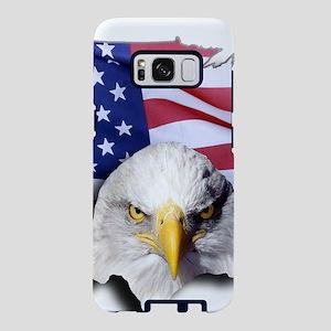 Bald Eagle Over American Fl Samsung Galaxy S8 Case