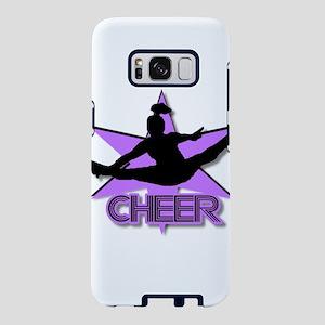 Cheerleader in purple Samsung Galaxy S8 Case
