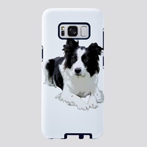 Black and White Border Collie Samsung Galaxy S8 Ca