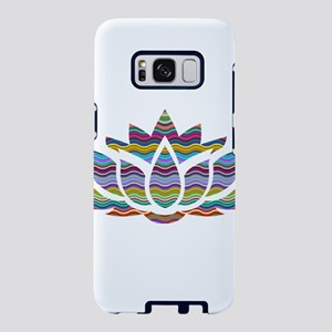 Rainbow Wave Lotus Samsung Galaxy S8 Case