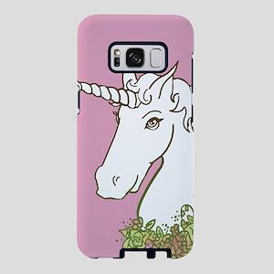 Unicorn With Flower Garland Samsung Galaxy S8 Case