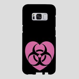 Pink Heart Biohazard Samsung Galaxy S8 Case