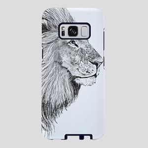Lion (Black and White) Samsung Galaxy S8 Case