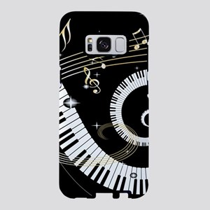 Piano and musical notes Samsung Galaxy S8 Case