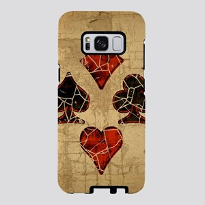 card-suits-dist_square Samsung Galaxy S8 Case